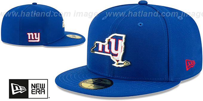 NY Giants 'GOLD STATED INSIDER' Royal Fitted Hat by New Era