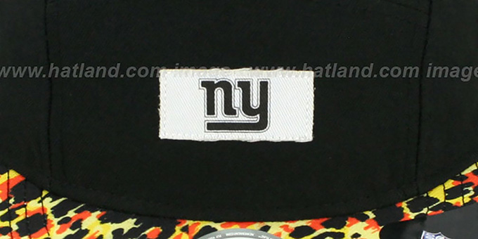 NY Giants 'LEOPARD CAMPER STRAPBACK' Black Hat by New Era