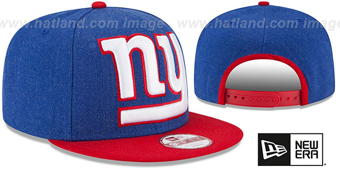 fa033b6c0fc ... NY Giants  LOGO GRAND SNAPBACK  Royal-Red Hat by New Era ...