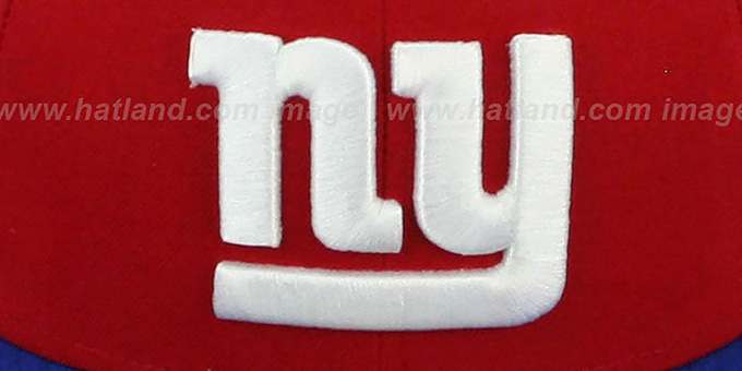 NY Giants 'NFL 2T-TEAM-BASIC' Red-Royal Fitted Hat by New Era