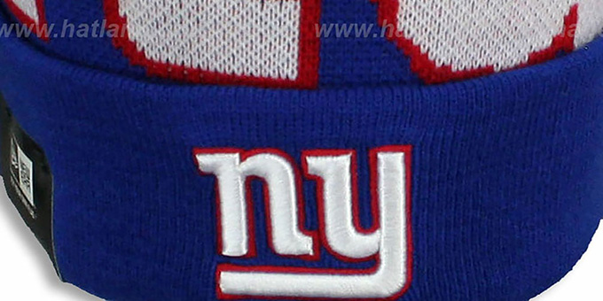 NY Giants 'NFL-BIGGIE' Royal Knit Beanie Hat by New Era