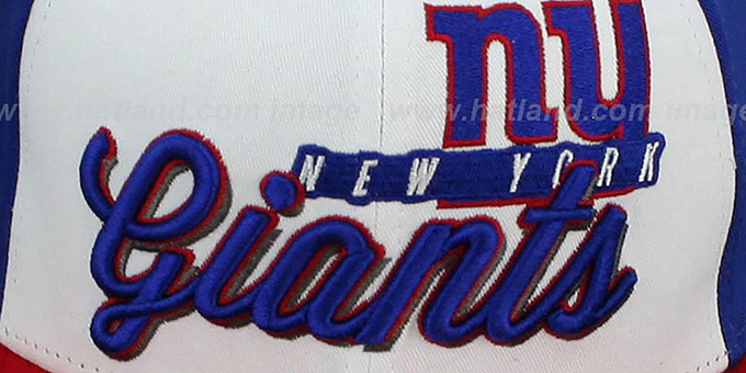 NY Giants 'NFL CHRIOGRAPH SNAPBACK' White-Royal-Red Hat by New Era