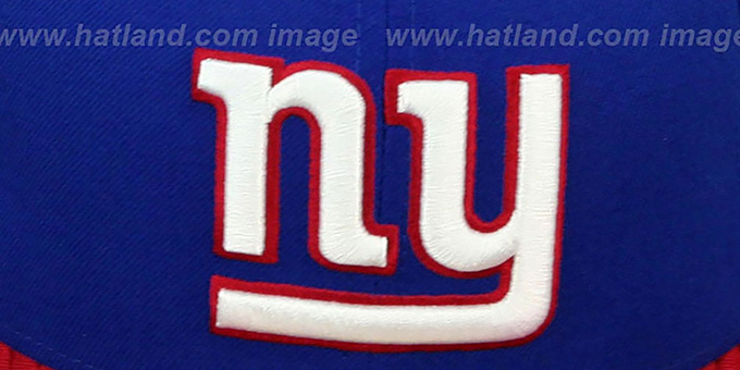 NY Giants 'NFL JERSEY-BASIC' Royal-Red Fitted Hat by New Era