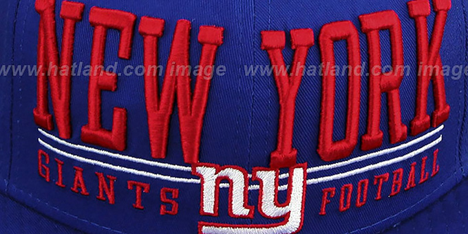 NY Giants 'NFL LATERAL SNAPBACK' Royal Hat by New Era
