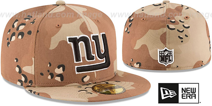 NY Giants 'NFL TEAM-BASIC' Desert Storm Camo Fitted Hat by New Era