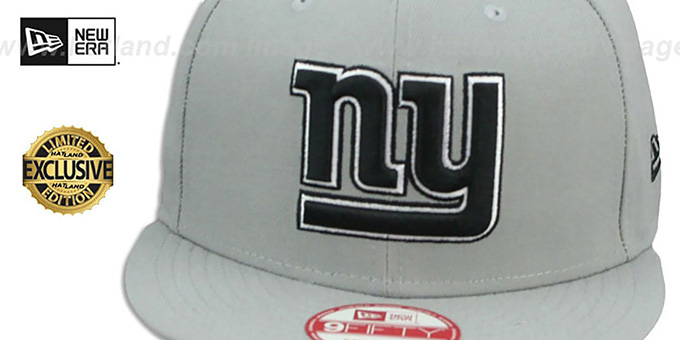 NY Giants 'NFL TEAM-BASIC SNAPBACK' Grey-Black Hat by New Era