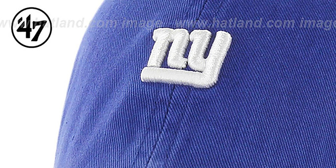NY Giants 'POLO STRAPBACK' Royal Hat by Twins 47 Brand