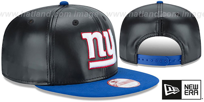 NY Giants 'SMOOTHLY STATED SNAPBACK' Black-Royal Hat by New Era