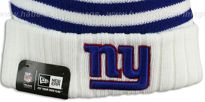 1442d9aaa46 ... NY Giants  SNOWFALL STRIPE  Knit Beanie Hat by New Era ...