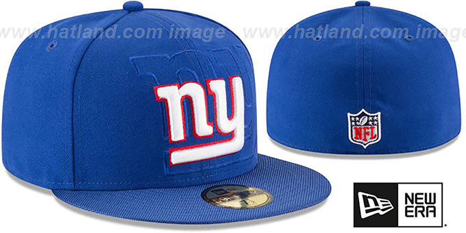 NY Giants 'STADIUM SHADOW' Royal Fitted Hat by New Era