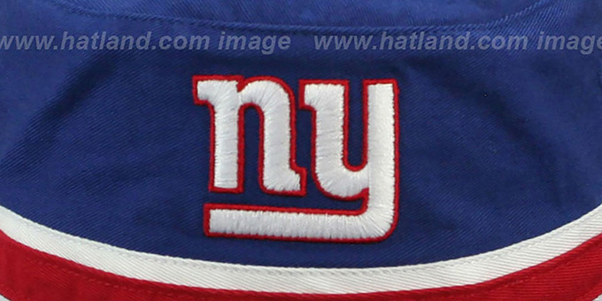 NY Giants 'STRIPED BUCKET' Royal Hat by Twins 47 Brand