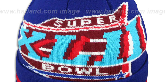 0476ee46ccf ... NY Giants  SUPER BOWL XLII  Royal Knit Beanie Hat by New Era ...