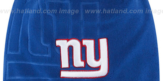 NY Giants 'TECH-KNIT STADIUM' Royal-Red Knit Beanie Hat by New Era