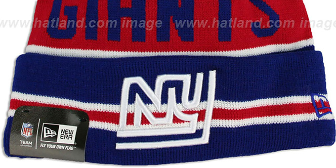 NY Giants 'THE-COACH THROWBACK' Navy Knit Beanie Hat by New Era