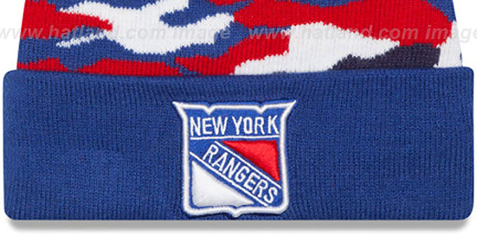 NY Rangers 'CAMO CAPTIVATE' Knit Beanie Hat by New Era