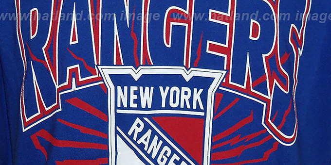 NY Rangers 'EARTHQUAKE' Royal T-Shirt by Mitchell & Ness