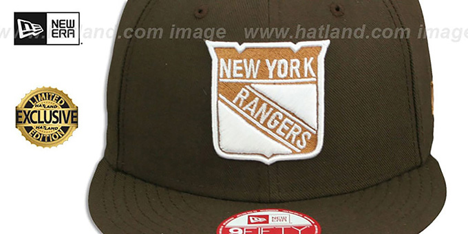 NY Rangers 'TEAM-BASIC SNAPBACK' Brown-Wheat Hat by New Era