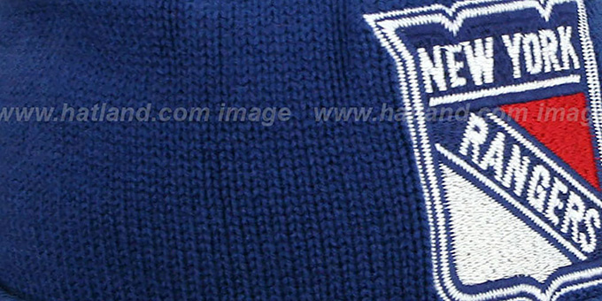 NY Rangers 'XL-LOGO BEANIE' Navy by Mitchell and Ness