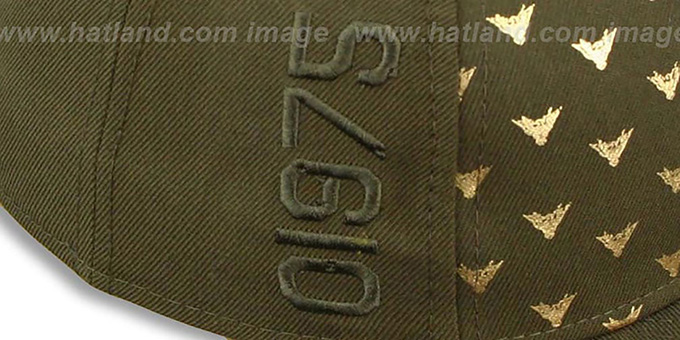 35d64d55a Oakley REPEAT WING Olive Fitted Hat by New Era