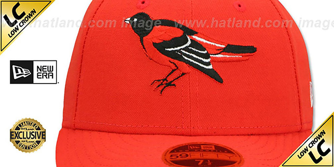 Orioles '1989-97 LOW-CROWN VINTAGE' Orange Fitted Hat by New Era