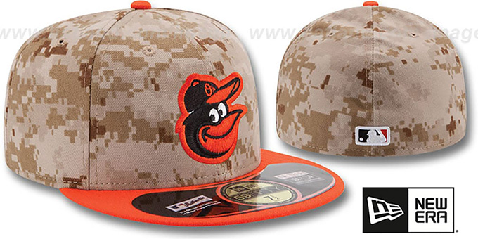Orioles '2014 STARS N STRIPES' Fitted Hat by New Era