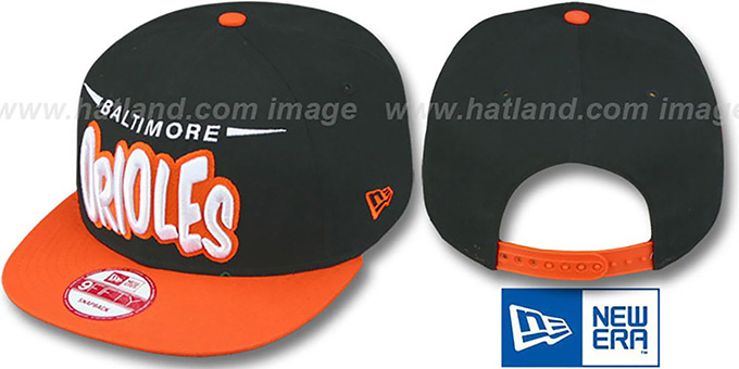 Orioles '2T COOP DOPETASTIC SNAPBACK' Black-Orange Hat by New Era