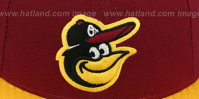Orioles '2T-FASHION' Burgundy-Gold Fitted Hat by New Era