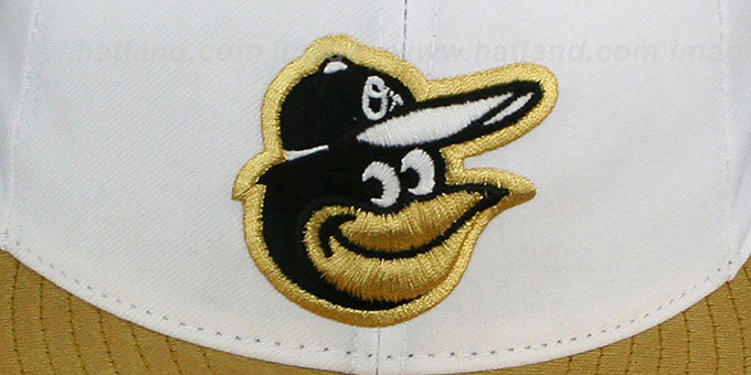 Orioles '2T-FASHION' White-Metallic Gold Fitted Hat by New Era