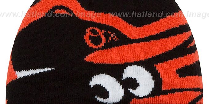 Orioles 'COLOSSAL-TEAM' Black Knit Beanie Hat by New Era