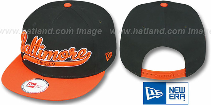Orioles COOP '2T SCRIPTER SNAPBACK' Black-Orange Hat by New Era