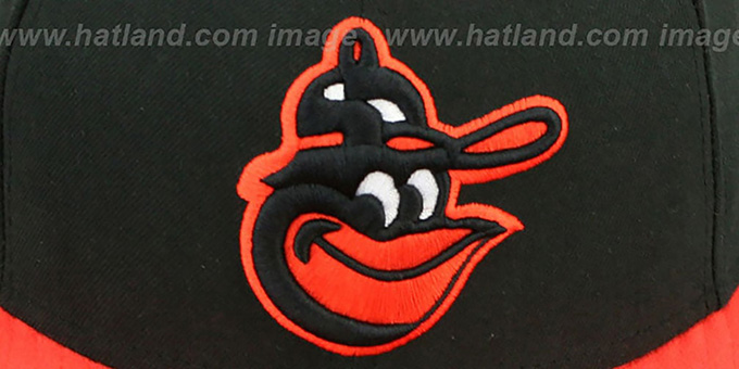 Orioles COOP 'BAYCIK' Black-Orange Fitted Hat by New Era