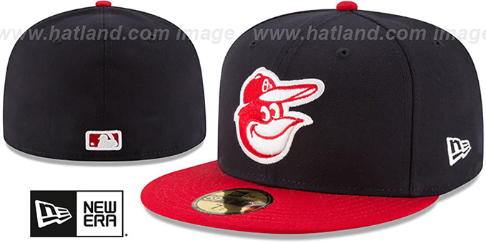 Orioles 'COUNTRY COLORS' Navy-Red Fitted Hat by New Era