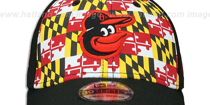 Orioles 'MARYLAND FLAG FLEX' Flag-Black Hat by New Era