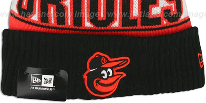 Orioles 'REP-UR-TEAM' Knit Beanie Hat by New Era