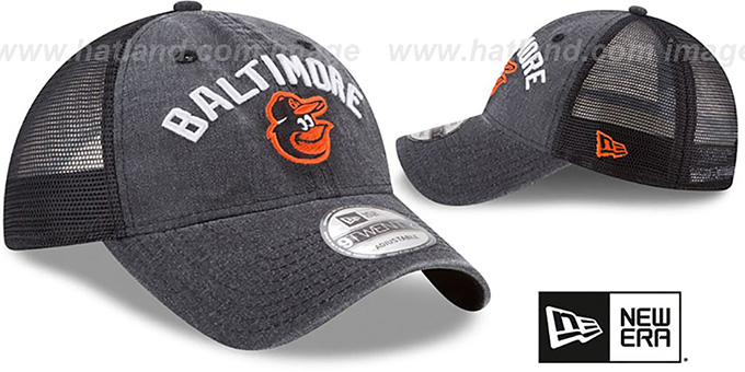 Orioles 'RUGGED-TEAM TRUCKER SNAPBACK' Black Hat by New Era