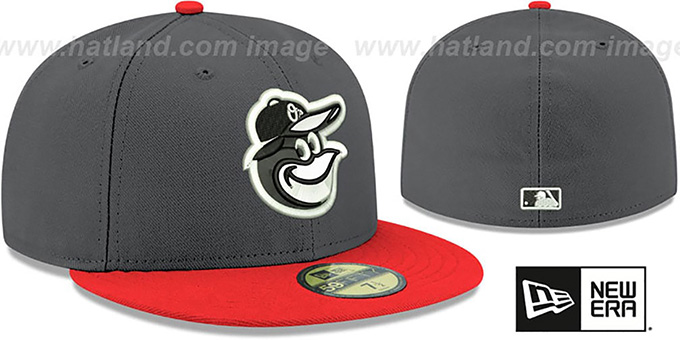 Orioles 'SHADER MELT-2' Grey-Orange Fitted Hat by New Era