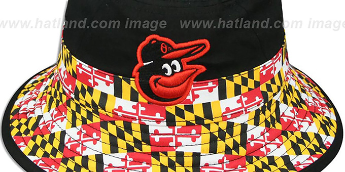 Orioles 'SPLITTER MARYLAND FLAG BUCKET' Hat by New Era
