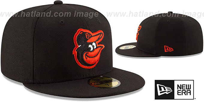 Orioles 'STATE STARE' Black Fitted Hat by New Era