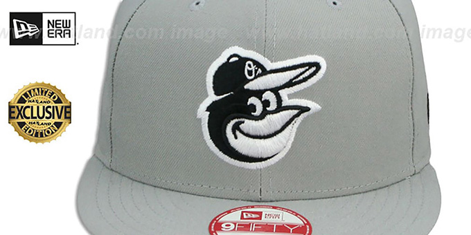 Orioles 'TEAM-BASIC SNAPBACK' Grey-Black Hat by New Era
