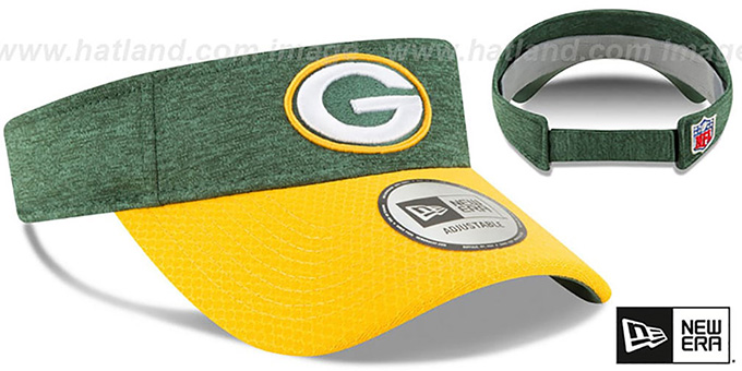 Packers '18 NFL STADIUM' Green-Gold Visor by New Era