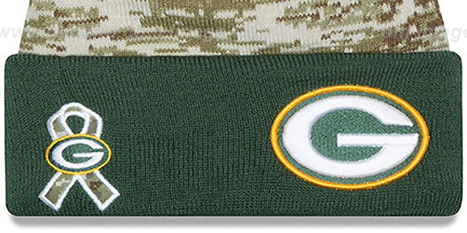 Packers '2015 SALUTE-TO-SERVICE' Knit Beanie Hat by New Era