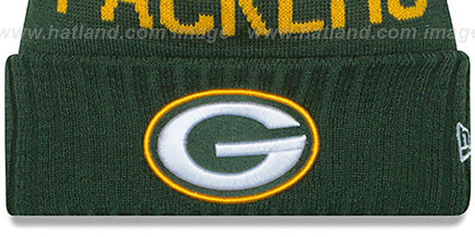 Packers '2015 STADIUM' Green-Gold Knit Beanie Hat by New Era