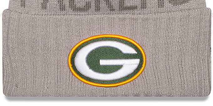Packers '2015 STADIUM' Grey-Green Knit Beanie Hat by New Era