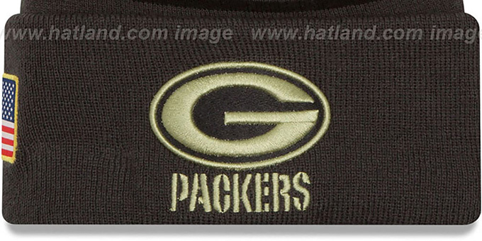 Packers '2016 SALUTE-TO-SERVICE' Knit Beanie Hat by New Era