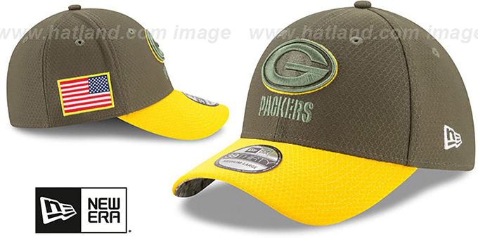 Packers '2017 SALUTE-TO-SERVICE FLEX' Green-Gold Hat by New Era