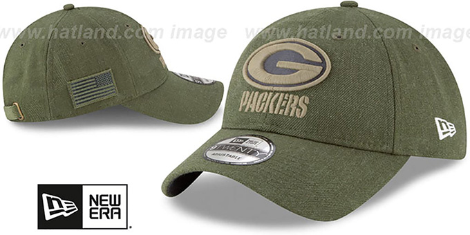 ... Packers  2018 SALUTE-TO-SERVICE STRAPBACK  Olive Hat by New Era ... 2a1e7a1cb