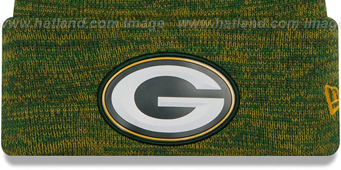 Packers 'BEVEL' Green-Gold Knit Beanie Hat by New Era