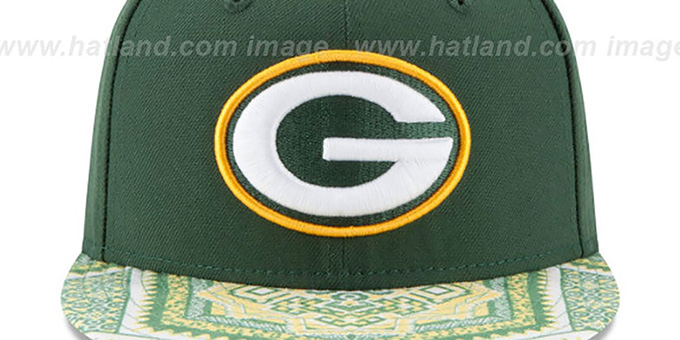 Packers 'KALEIDOVIZE SNAPBACK' Green Hat by New Era