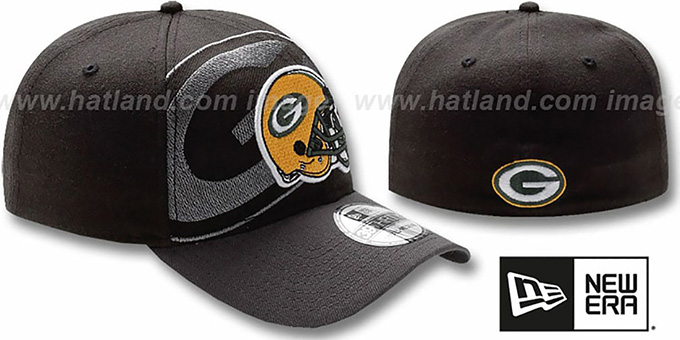 Packers 'NFL BLACK-CLASSIC FLEX' Hat by New Era