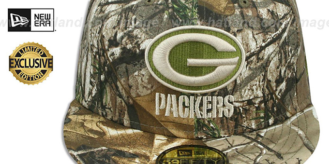 Packers 'NFL TEAM-BASIC' Realtree Camo Fitted Hat by New Era
